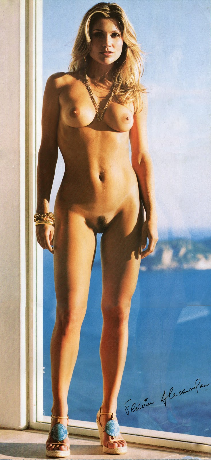 Flavia Alessandra Playboy Scans Poster Full